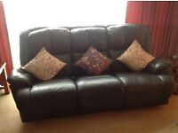 A three seater settee.