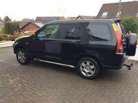 Honda CR-V in black for sale , spares or repair ,