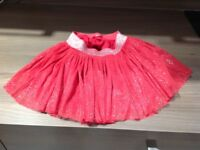 Red sparkle skirt. New.