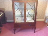Art Deco china cabinet. Antique china cabinet. Vintage display case. Retro cabinet
