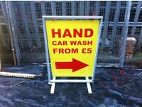 Hand Car Wash From £5 Sign