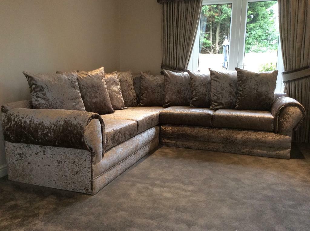 Home Furniture Diy Footstoolswivel Chair Large Liverpool Byron Corner Sofa In Brown Mink Slowhunt Com