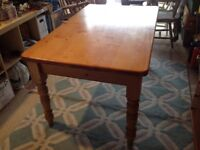FARMHOUSE/COUNTRY KITCHEN CHUNKY PINE TABLE -free delivery