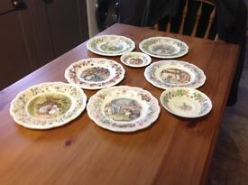 Royal doulton bramley hedge plates