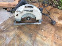 Dewalt circular saw 'spares or repair' motor runs fine but blade not turning.