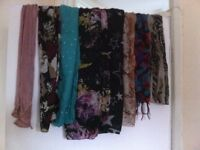Various Ladies Scarves.