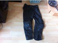 motorcycle leather jeans black belstaff