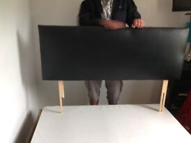 Black pvc head board