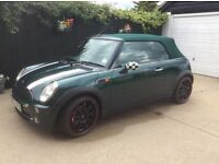 Mini Cooper Convertible,2004, classic British racing green