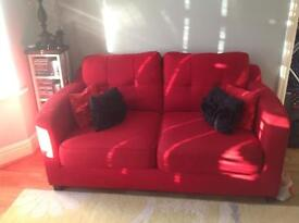 Nearly new / never been used red DFS compact 2-seater