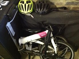 2 X tern link D8 bicycles plus storage case plus 2 X helmets - worth £1340.
