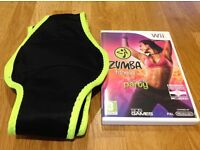 Zumba Fitness Nintendo Wii Join The Party and Belt