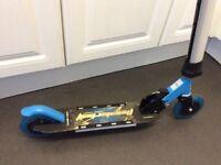 Full light up blue scooter