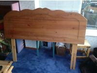 King size pine headboard