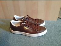 Puma brown trainers. Size UK 3.