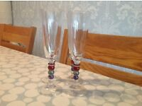 Set of 4 champagne flutes gorgeous only £10!