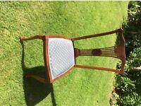 6 beautiful antique oak chairs