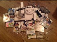 Nintendo Wii console and Nintendo Wii Fit Ballance Board , Nintendo games and accessories