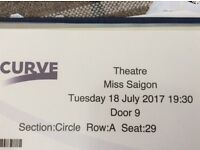 Miss Saigon Curve Theatre Leicester 18th July 2017