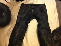 Richa two piece leather motorcycle suit