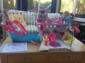 Barbie cruise ship and dolls
