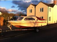 Shetland Family Four Cruiser with Honda 15HP 4 stroke engine and trailer