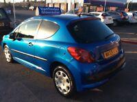PEUGEOT 207 van 12 months mot 2009 model £2195 no vat .