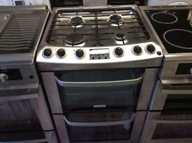 Electrolux stainless steel gas cooker double oven 60 cm wide