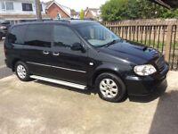 Kia Sedona 2.9 CRDI SE+ Diesel Auto Metalic Black 7 seats.