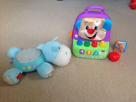 Fisher Price Smart Stages Backpack and Hippo Snuggle Soother
