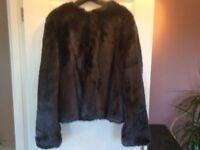 Faux Fur Jacket in Midnight Blue