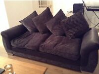 Three piece sofas by dfs