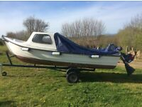 ORKNEY STRIKELINER 16 cuddy boat, engines, trailer & cover - ideal for family day trips,