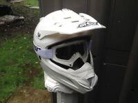 Shox Motorcross helmet and Thor goggles