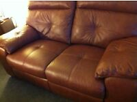 ALMOST NEW REAL LEATHER SOFA
