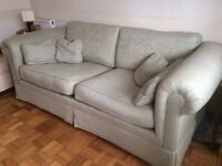 Two good quality sofas made by Derwent one small and one large
