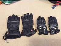 Akito motorcycle gloves summer and winter real leather gloves size large to medium hand