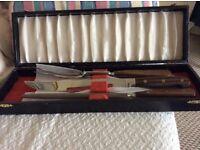 Sheffield steel boxed knife fork and sharpener set