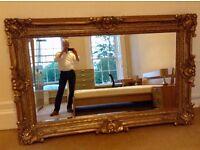 Large Ornate Rectangular Mirror 5'x 7'