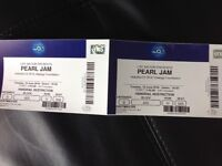 PEARL JAM LIVE LONDON O2 - Tuesday 19th June, 2 Tickets