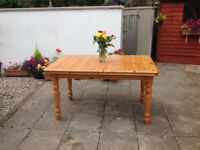 SOLID PINE EXTENDING TABLE -can deliver