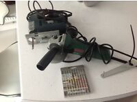 Bosch angle grinder black and decor jigsaw