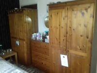 Antique pine bedroom furniture