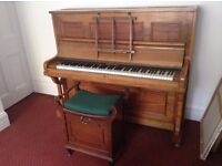 Lovely wooden piano - recently tuned and plays well