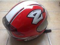 Shoei crash helmet. Michael Rutter bulldog version