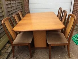G plan dining table & chairs