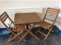 Two seater bistro set great condition