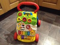 Vitech First Steps Baby Walker - two years old, excellent condition, separates into 2 pieces.