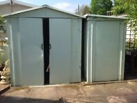 Two metal sheds. Collection only and buyer to dismantle