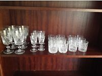 Crystal glasses and tableware - assorted prices